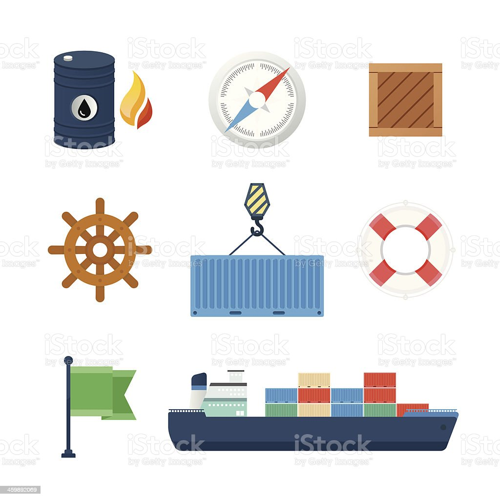 Logistics Icons royalty-free stock vector art