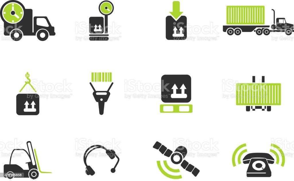 Logistics icons vector art illustration