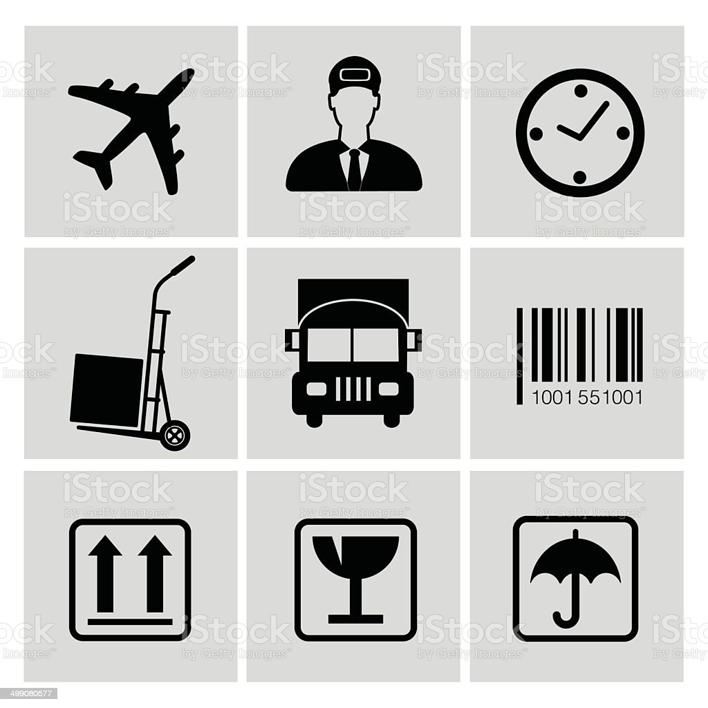 Logistics icons,vector vector art illustration