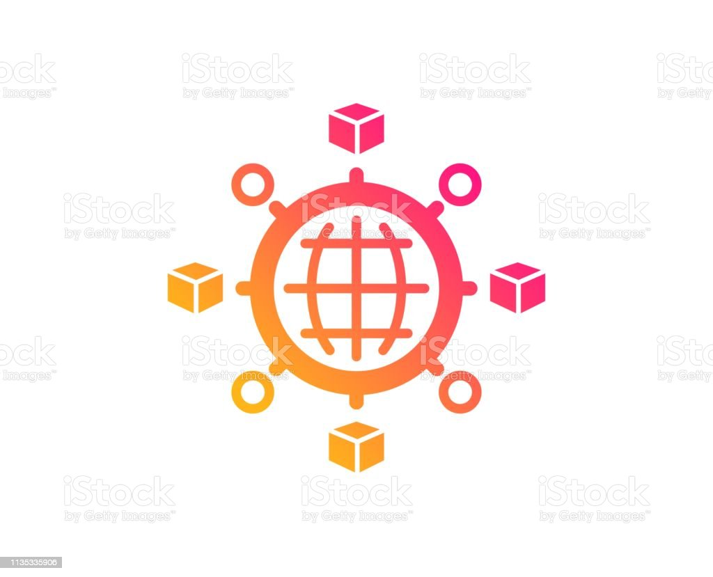 Logistics Network Icon Parcel Tracking Vector Stock