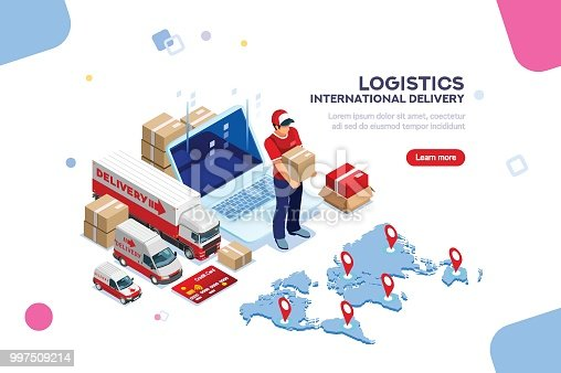 istock Logistics of International Delivery 997509214