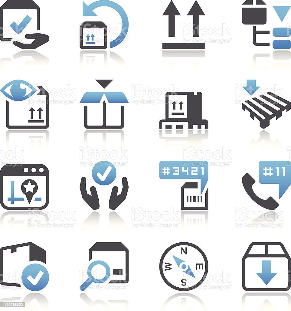 Logistics & Shipping Icon Set royalty-free stock vector art