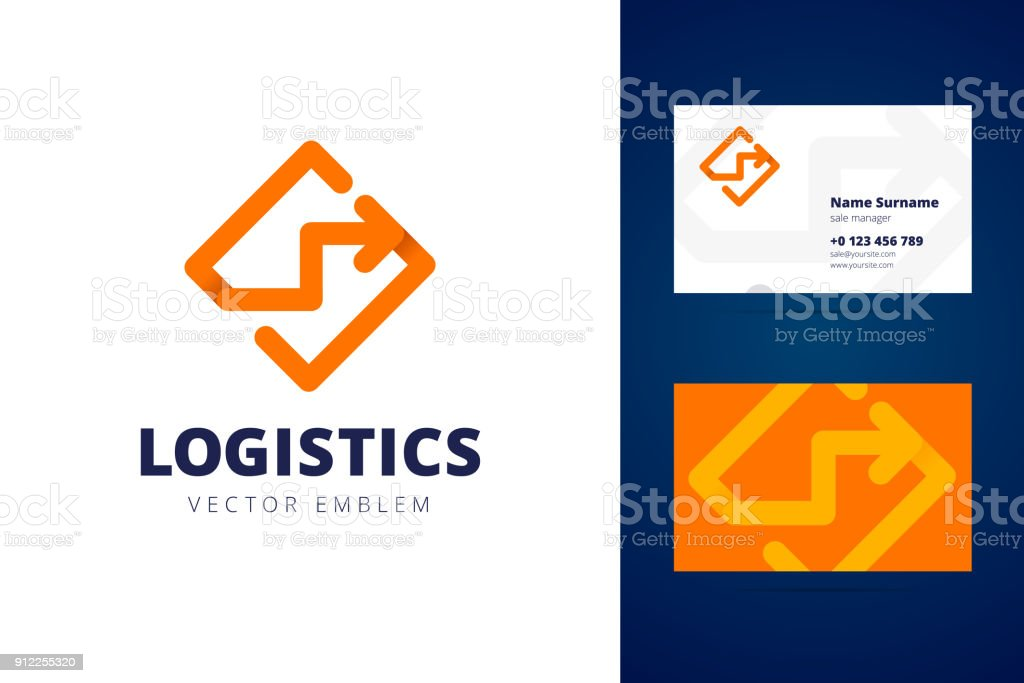 Logistics Sign And Business Card Template Stock Vector Art & More ...
