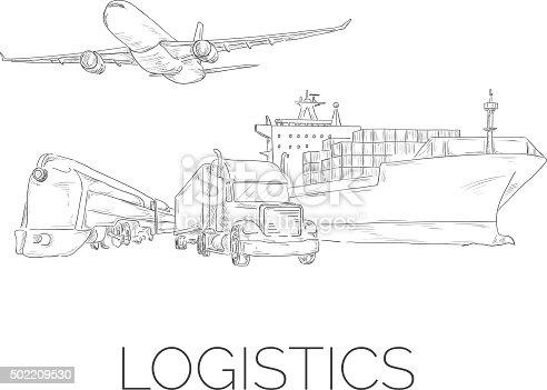 istock Logistics sketchy sign 502209530