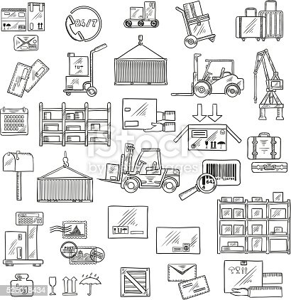 Forklift Drawing at GetDrawings.com | Free for personal use Forklift on