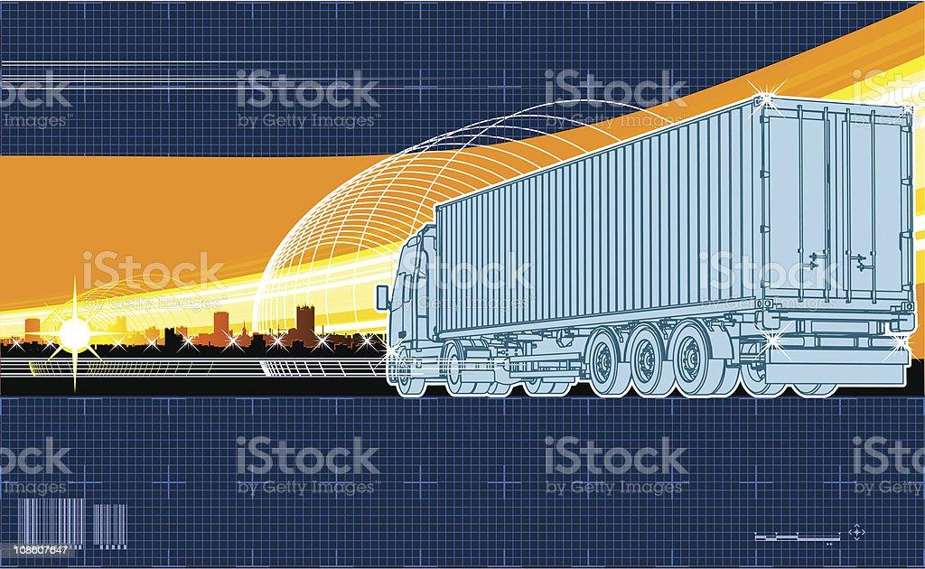 Logistics theme background royalty-free stock vector art