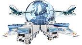 Logistics Transport Concept