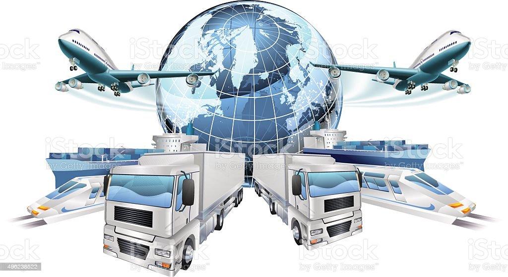 Logistics Transport Concept vector art illustration