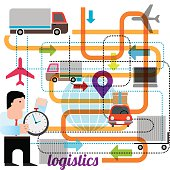 Logistics. Vector illustration