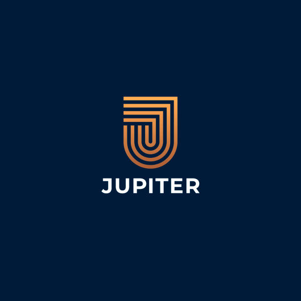 J logo. Abstract letter J logotype. Creative minimalism logotype. Universal modern geometric linear logo idea. J logo. Abstract letter J logotype. Creative minimalism logotype. Universal modern geometric linear logo idea. letter j stock illustrations