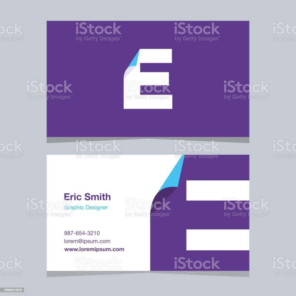 Logo alphabet letter e with business card template stock vector art logo alphabet letter e with business card template royalty free logo spiritdancerdesigns Choice Image