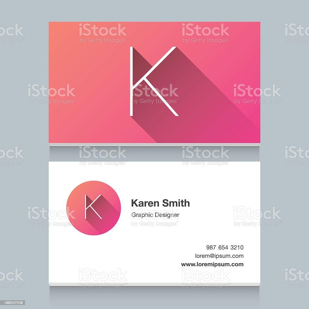 Logo alphabet letter 'K' vector art illustration