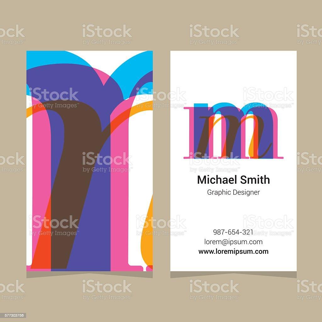 Logo Alfabet Litera M Z Wizytówki Szablon Stockowe Grafiki