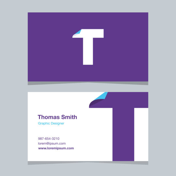 """Logo alphabet letter """"T"""", with business card template. Logo alphabet letter """"T"""", with business card template. Vector graphic design elements for company logo. letter t stock illustrations"""