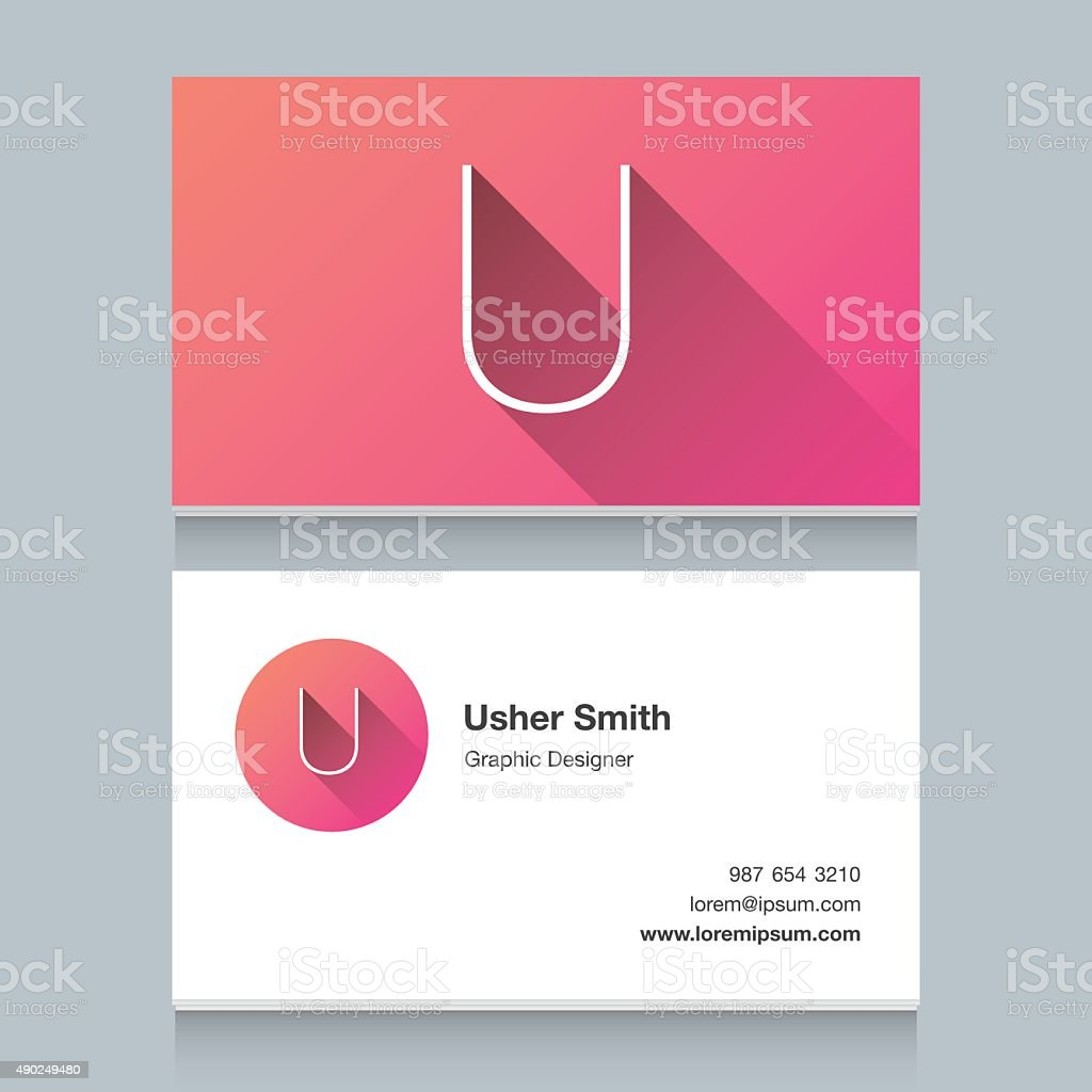 Logo alphabet letter 'U' vector art illustration
