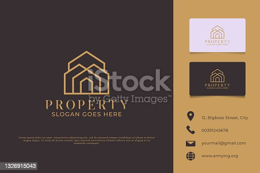 istock Logo Branding Property and Business Card Template Preview 1326915043