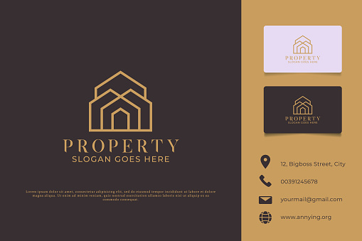 Logo Branding Property and Business Card Template Preview