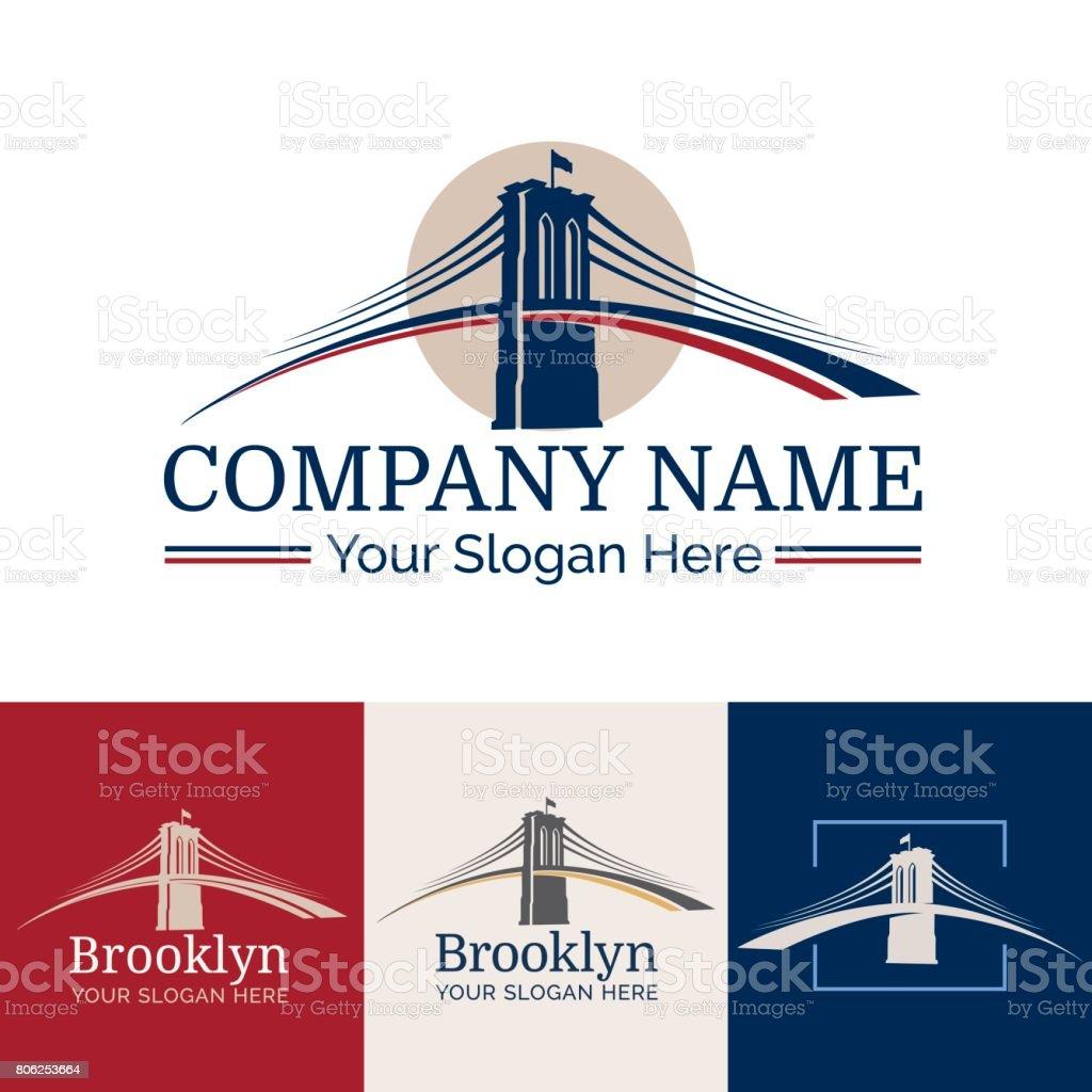 Logo Brooklyn vector art illustration