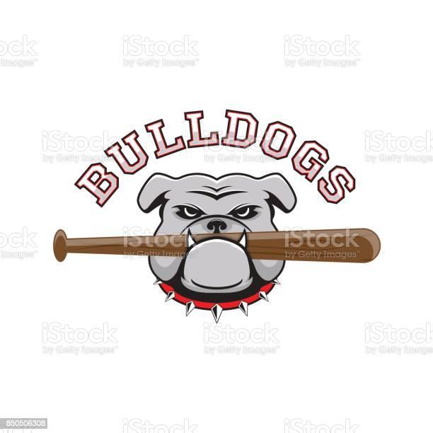 Logo bulldog with a baseball bat in the teeth vector id850506308?b=1&k=6&m=850506308&s=612x612&h=ioxrltdj9tq7pfsjjnldmjw9zfe49t pfqyhv8suy5o=