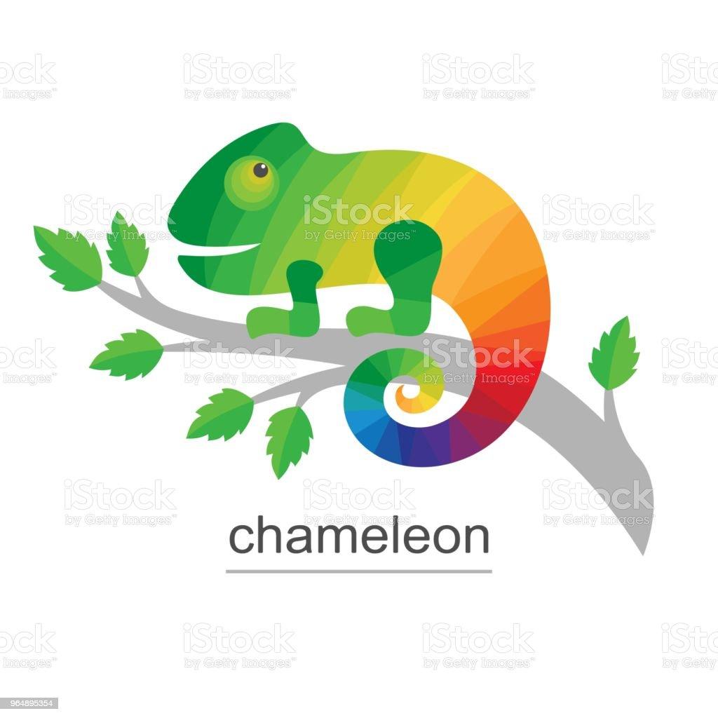 Logo Chameleon on branch. royalty-free logo chameleon on branch stock vector art & more images of afrika afrika
