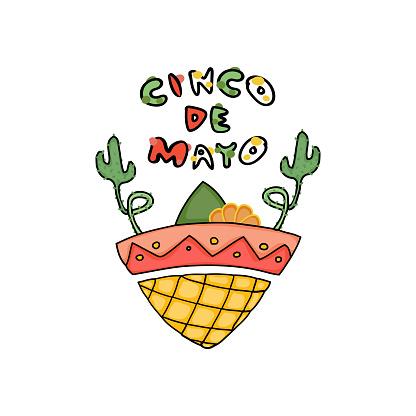 Logo Cinco De Mayo - Hand drawn doodle