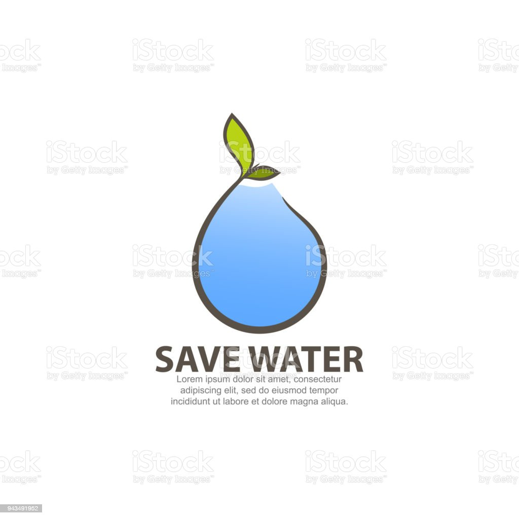 Logo Concept For Save Water Stock Illustration Download Image Now Istock
