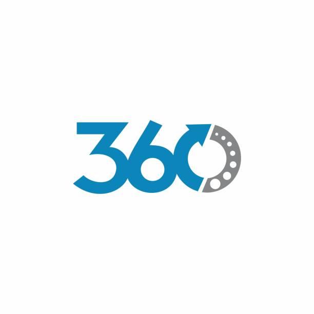 ilustraciones, imágenes clip art, dibujos animados e iconos de stock de elemento del concepto de diseño 360 logo - 360