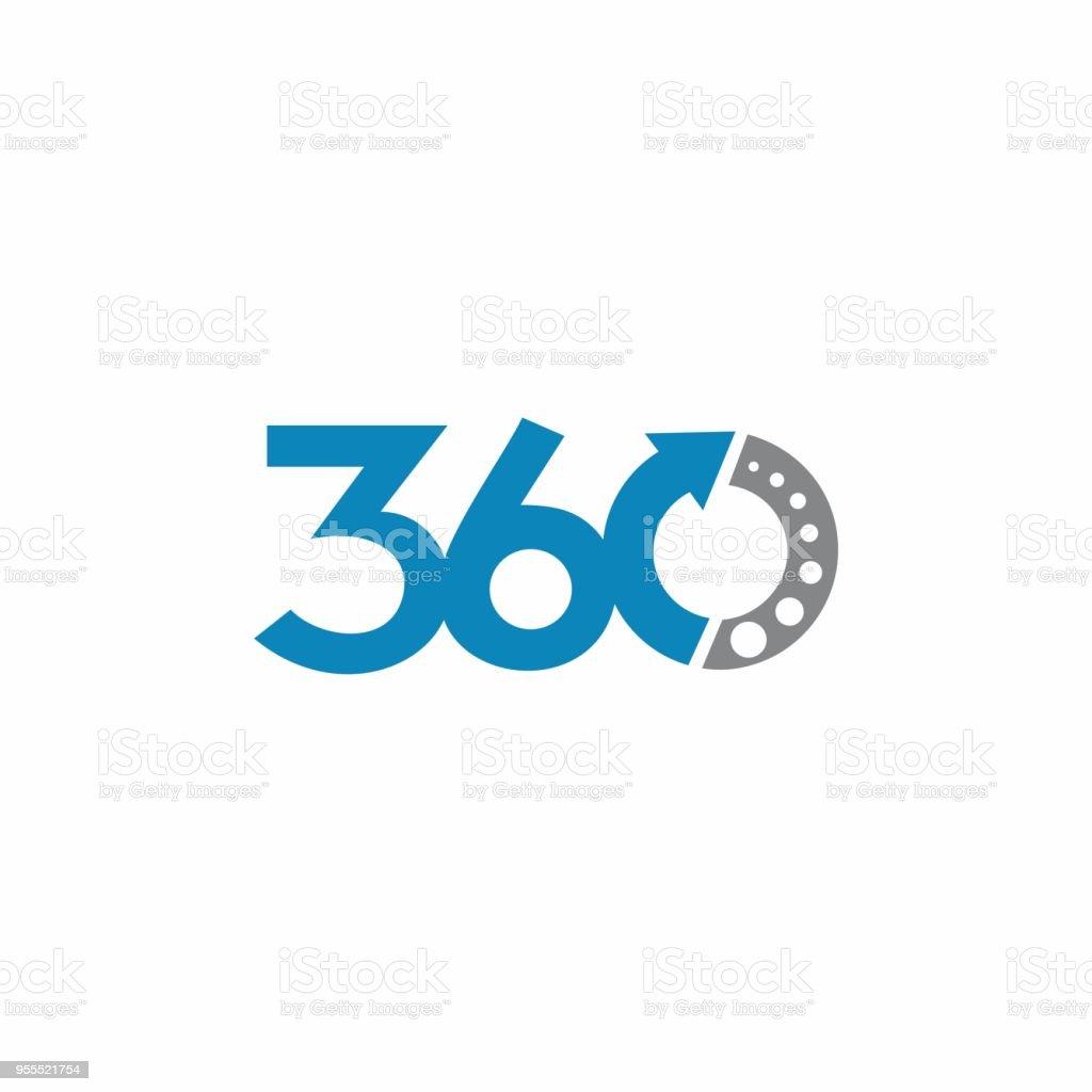 elemento del concepto de diseño 360 logo - ilustración de arte vectorial