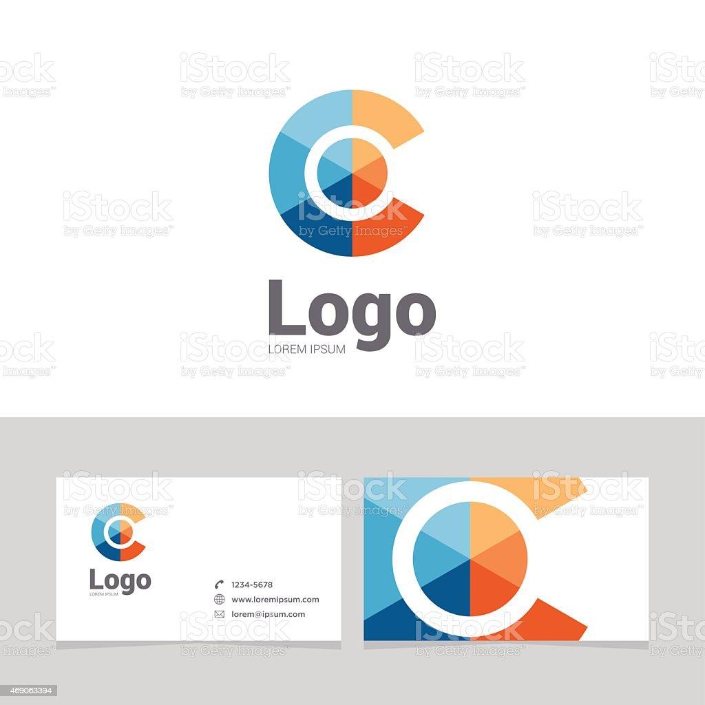 Logo design element with business card - 18vectorkunst illustratie