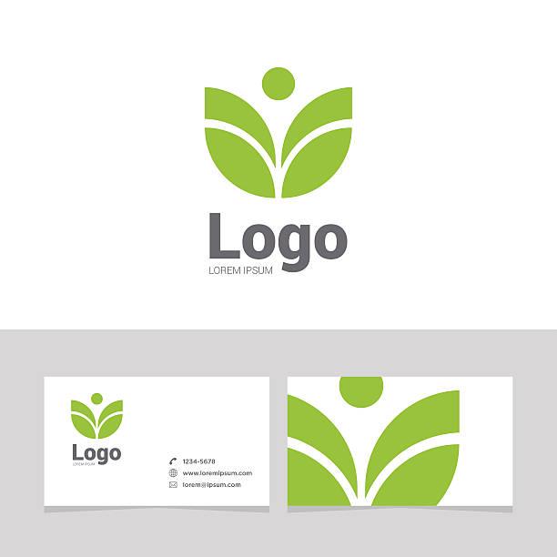 Logo design element with business card - 20vectorkunst illustratie