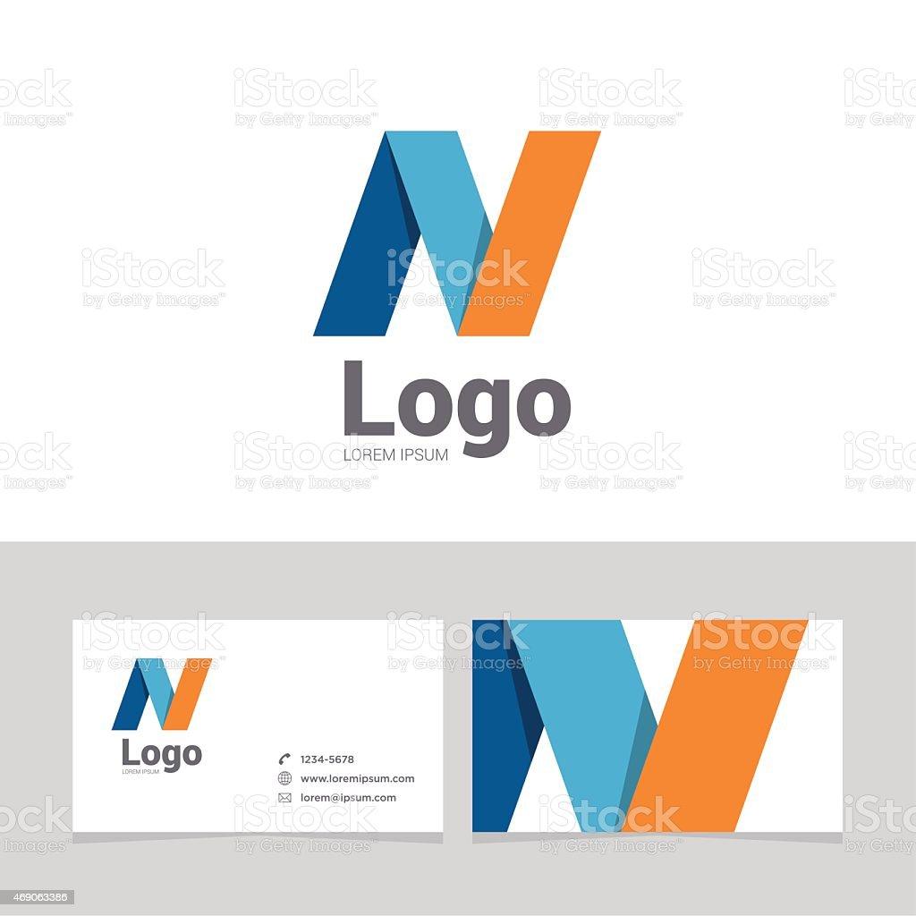Logo design element with business card - 21vectorkunst illustratie