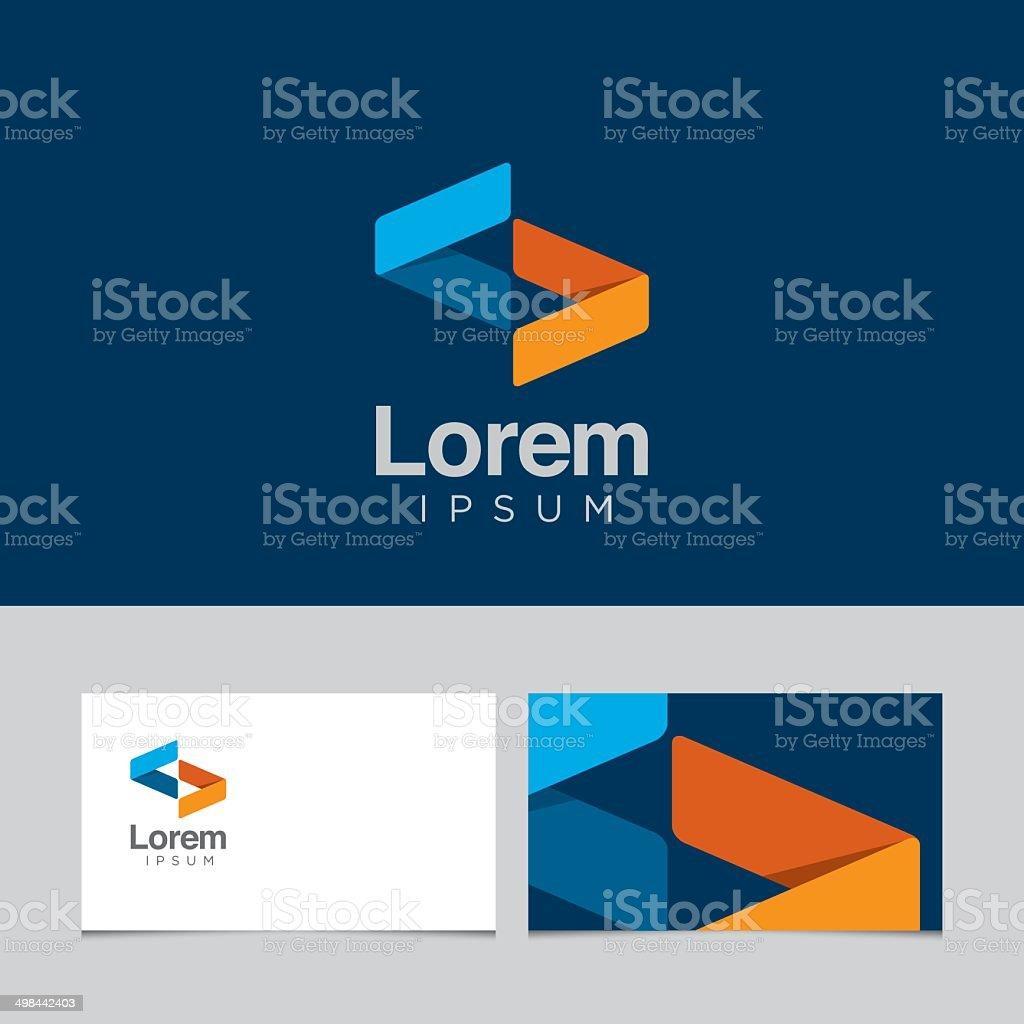 Logo design element with business card template 04 vector art illustration