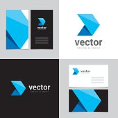 Logo design element with two business cards template - 23