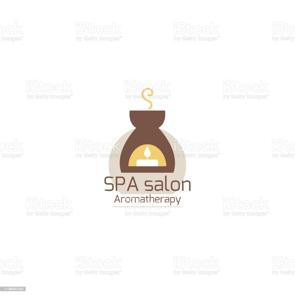 Logo Design Graphics For Spa Relax Aromatherapy Salon Candle In The Oil Burner Simple Llustration In Flat Style Stock Illustration Download Image Now Istock