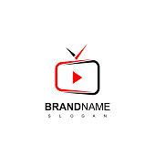 Live Stream TV Icon Design
