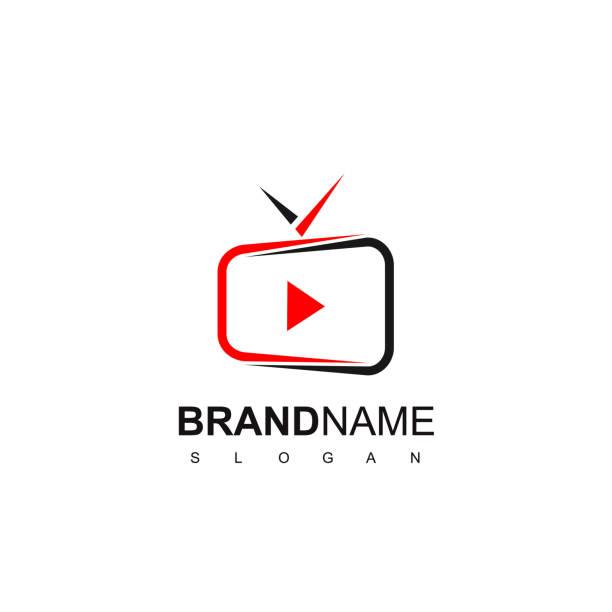 tv logo design inspiration - телевизионная индустрия stock illustrations