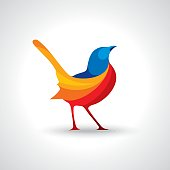 Bird Abstract Logo design vector design
