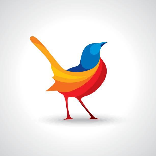 logo-design des vogels - freiflächen stock-grafiken, -clipart, -cartoons und -symbole