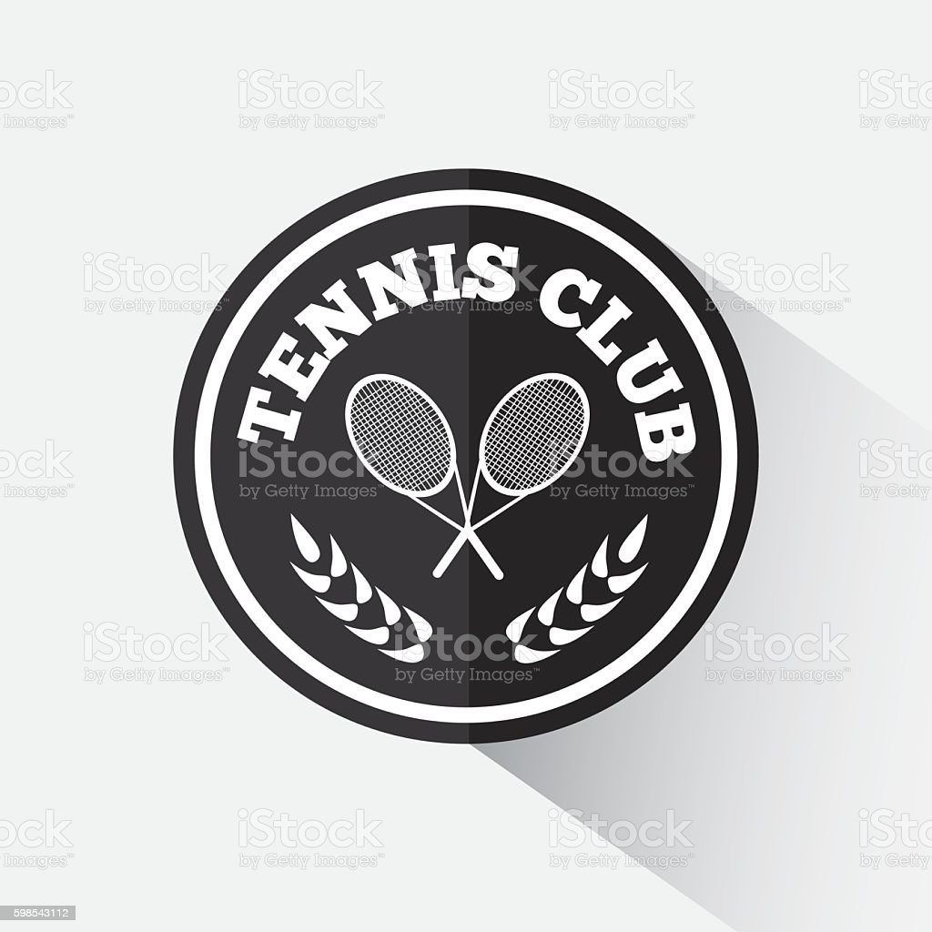 Logo design tennis. logo design tennis – cliparts vectoriels et plus d'images de armoiries libre de droits