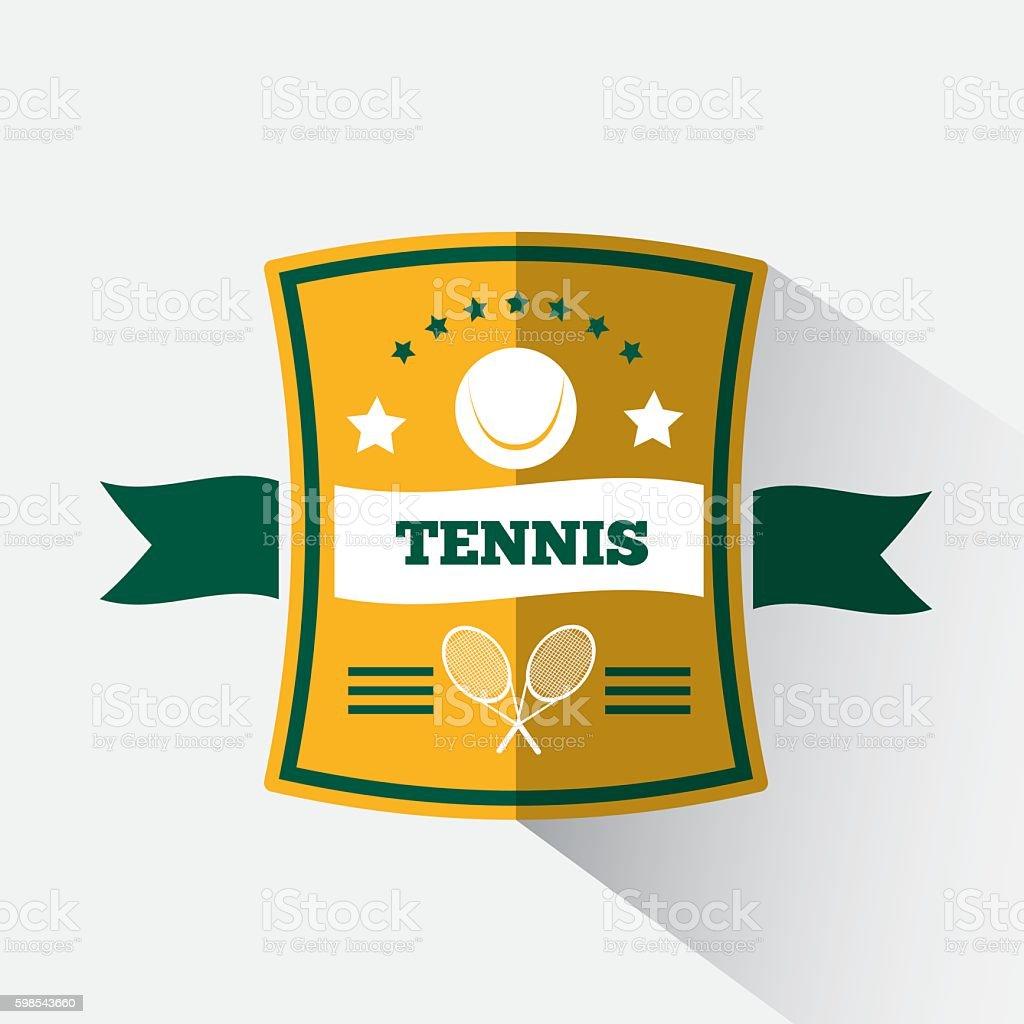 Logo design tennis logo design tennis – cliparts vectoriels et plus d'images de armoiries libre de droits