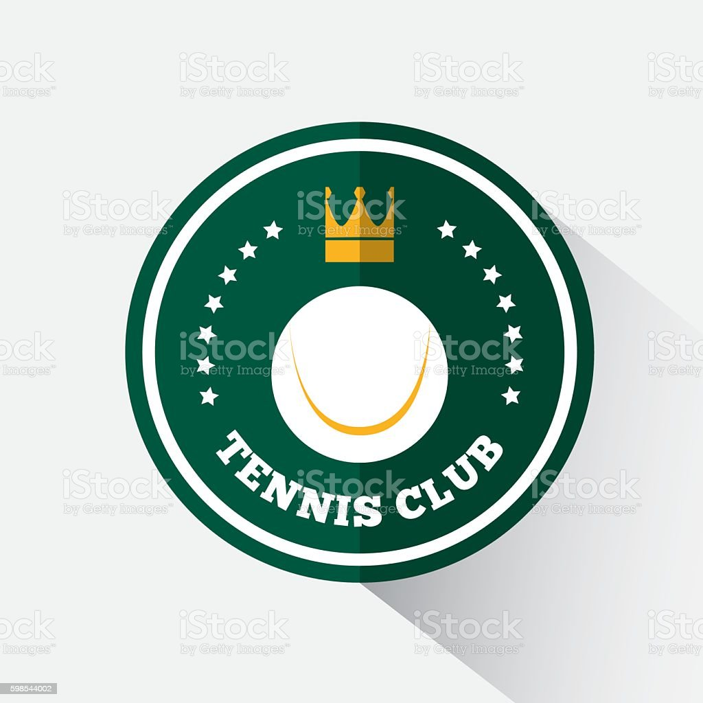 Logo design tennis logo design tennis – cliparts vectoriels et plus d'images de armoiries libre de droits