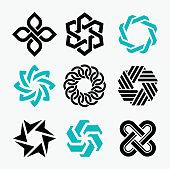 Vector illustration of tne logo elements design