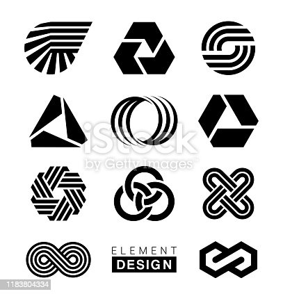 Vector illustration of the logo elements design.