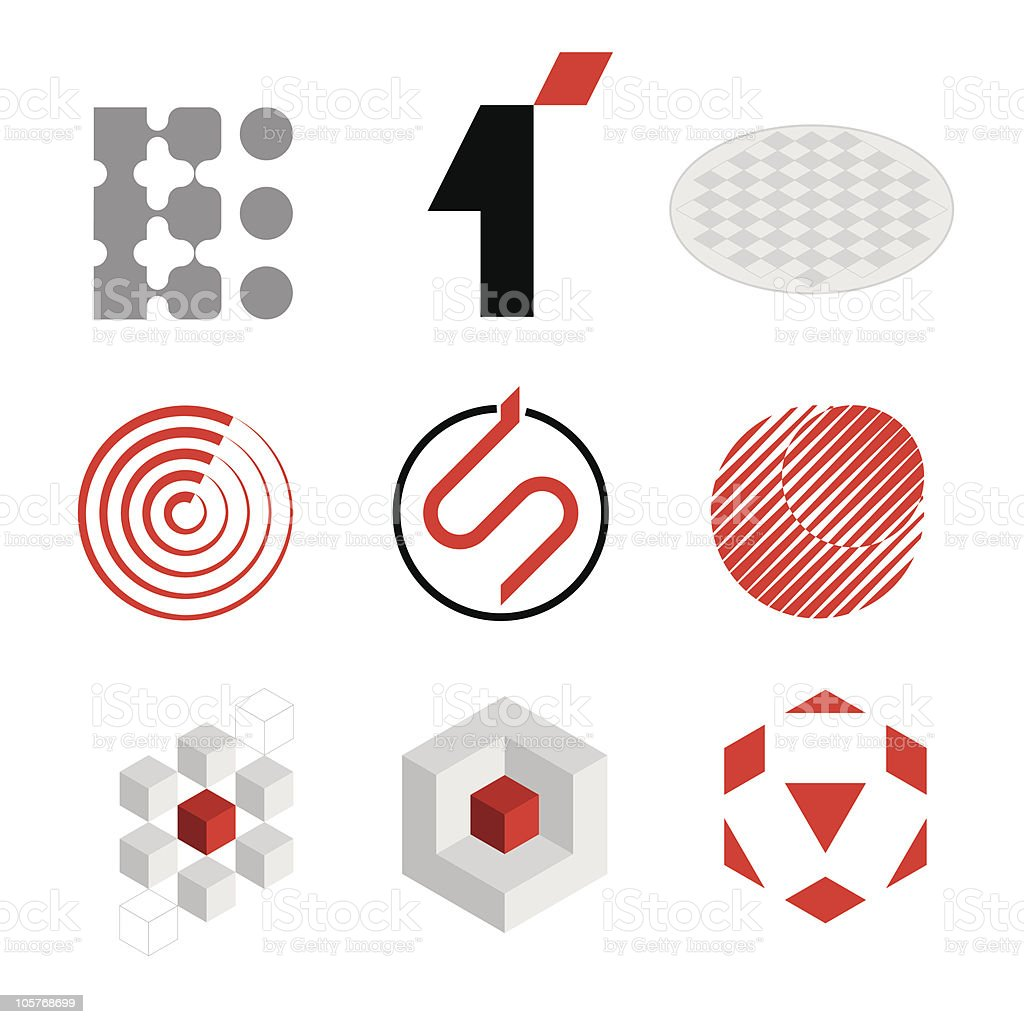Logo elements royalty-free stock vector art