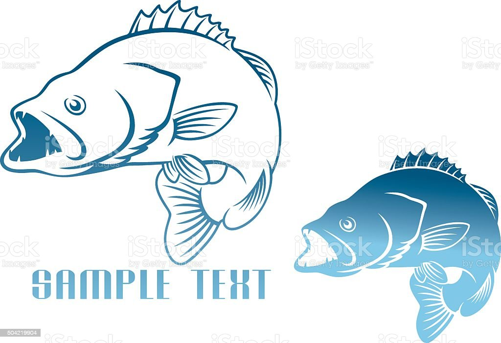 logo fish vector art illustration