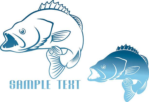 logo fish - redfish stock illustrations, clip art, cartoons, & icons