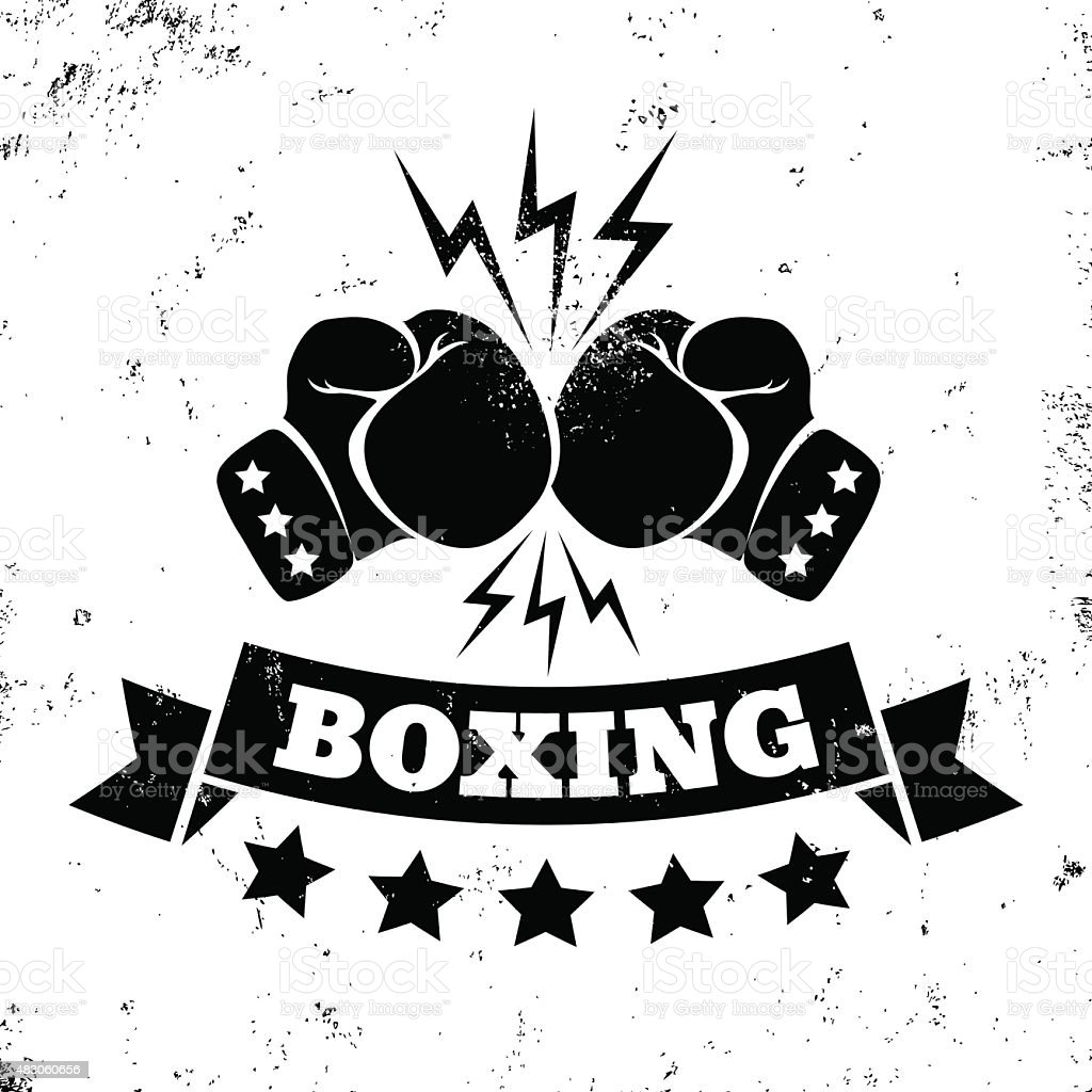 logo for a boxing vector art illustration