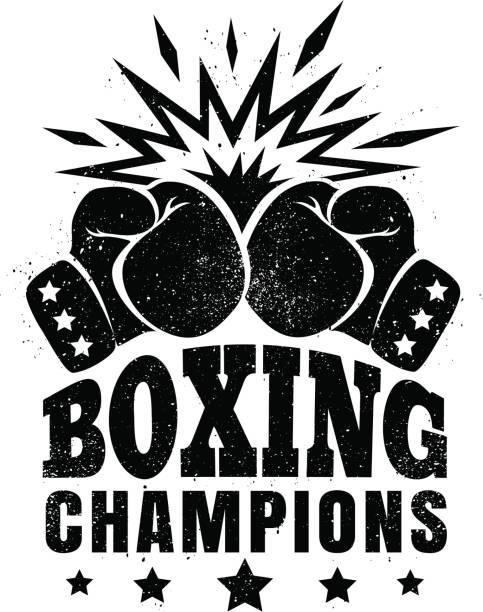 logo for a boxing vector art illustration