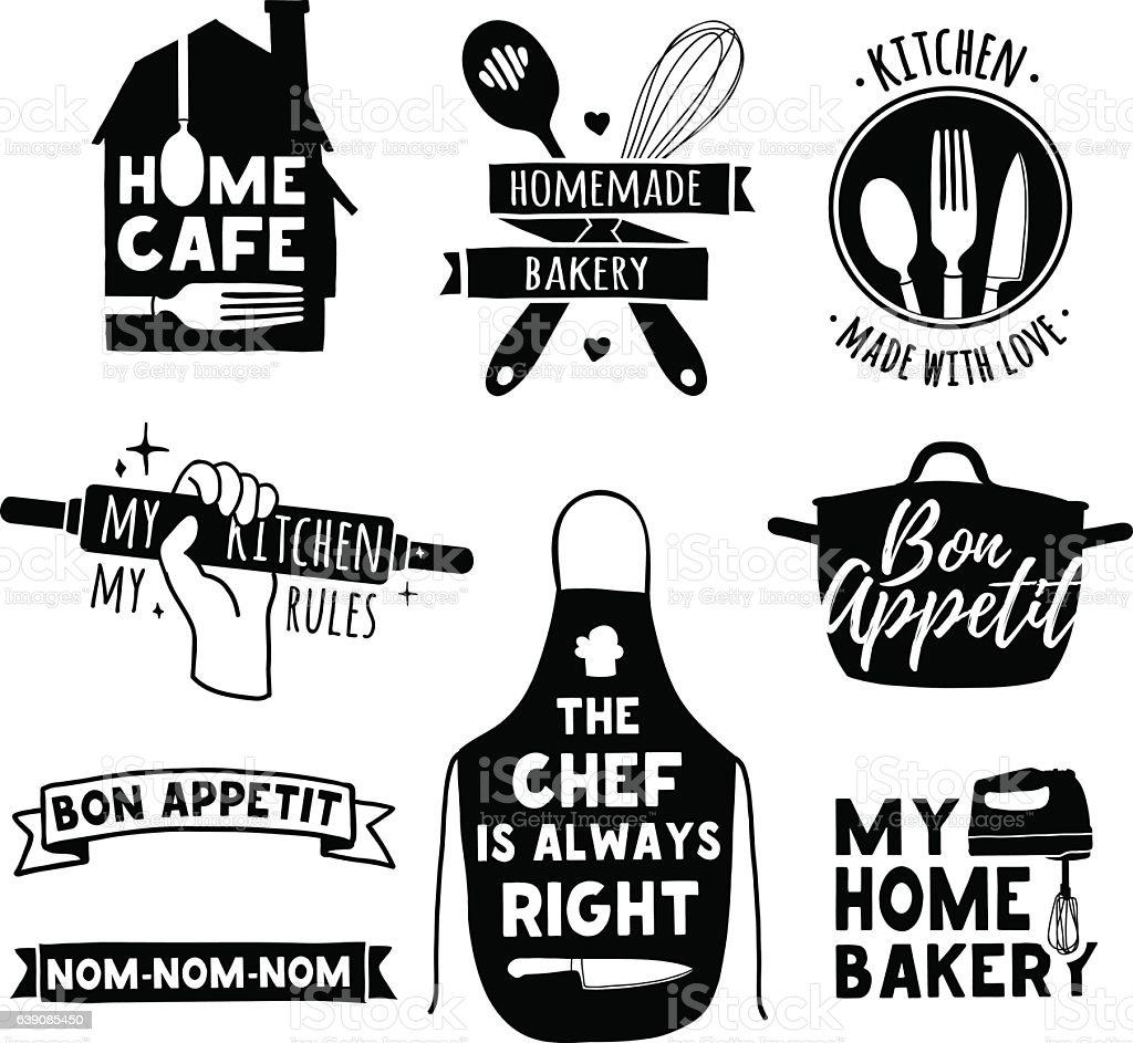Logo For Bakery Shop Cooking Club Cafe Food Studio Stock