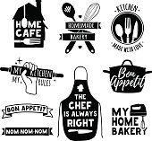 Logo for bakery shop, cooking club, cafe, food studio
